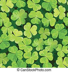 motívum, zöld, seamless, lóhere
