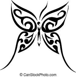 motýl, čepobití