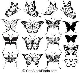 motýl, clipart