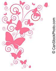 motýl, design