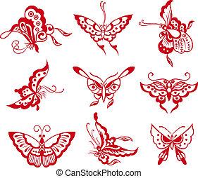 motýl, ilustrace