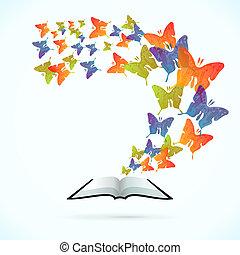 motýl, kniha