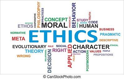 mot, éthique, -, nuage