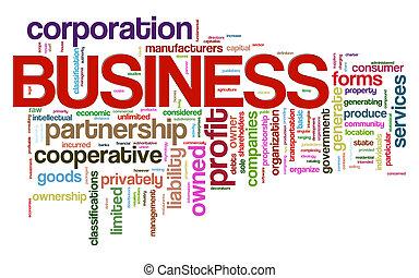 mot, étiquettes, business
