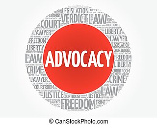 mot, advocacy, nuage