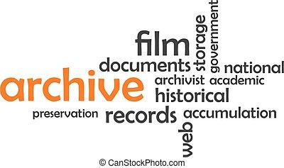 mot, -, archive, nuage