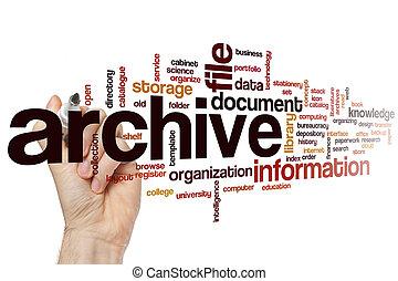 mot, archive, nuage