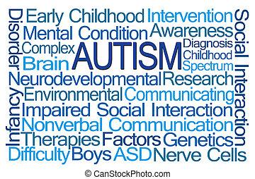 mot, autism, nuage