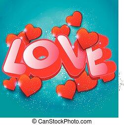 mot, backgro, valentines, amour, jour