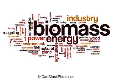 mot, biomass, nuage