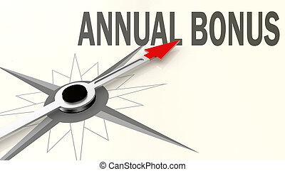 mot, bonification, annuel, flèche, compas, rouges