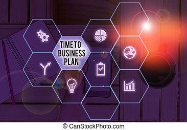 mot, business, écriture, temps, organiser, travail, concept, texte, commercialisation, horaire, plan., product.