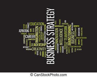 mot, business, nuage, stratégie
