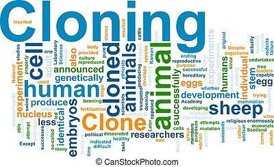mot, clonage, nuage