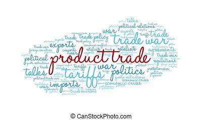 mot, commercer, nuage, produit