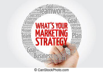 mot, commercialisation, est, stratégie, cercle, ton, nuage