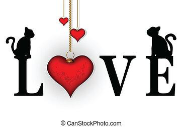 mot, concept, amour