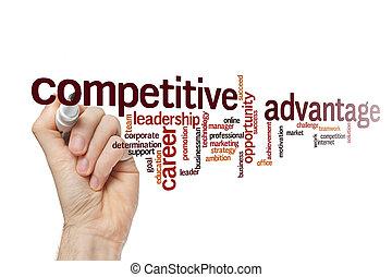 mot, concept, compétitif, avantage, nuage