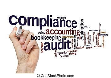 mot, concept, conformité, audit, nuage
