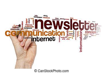 mot, concept, newsletter, nuage