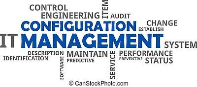 mot, configuration, -, nuage, gestion