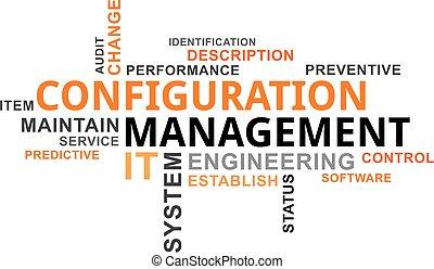 mot, configuraton, -, nuage, gestion