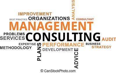 mot, consultant, gestion, -, nuage