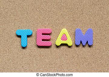 mot, couleur, alphabet, mousse, conseil bouchon, fond, équipe