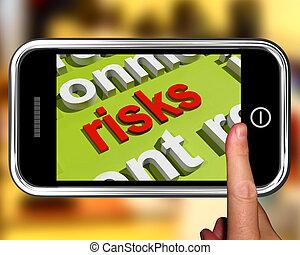 mot, crise, risques, spectacles, investissement, nuage, économie