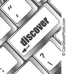 mot, découvrir, sur, clavier ordinateur, clã©