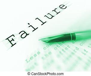 mot, déficient, échec, underachieving, affichages,...