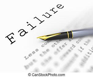 mot, déficient, échec, underachieving, infructueux, ou,...