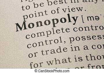 mot, définition, monopole