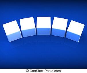 mot, dés, copyspace, exposition, cinq, lettre, vide, 5