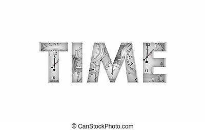 mot, dû, illustration, compte rebours, clocks, date limite, chronométrer passer, 3d