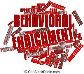 mot, enrichissement, nuage,  behavioral