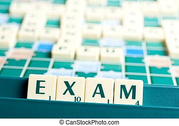 mot, examen