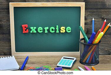 mot, exercice