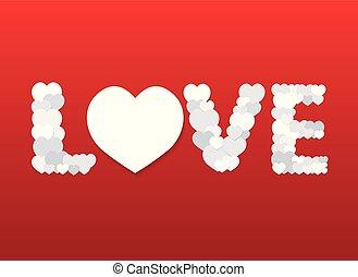 mot, fait, aimez coeurs