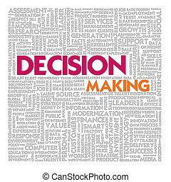 mot, finance, concept affaires, prise décision, nuage