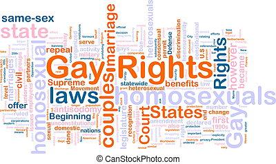 mot, gay, nuage, droits