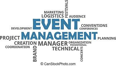 mot, gestion, -, événement, nuage