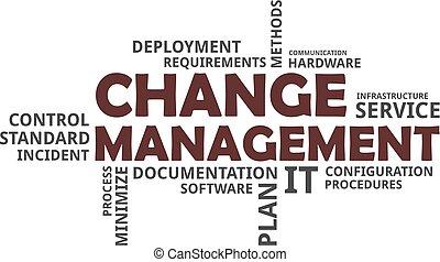 mot, gestion, -, nuage, changement