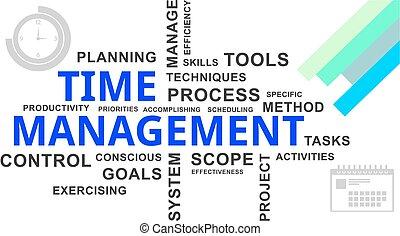 mot, gestion, -, nuage, temps