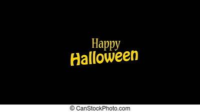 mot, glitch, halloween, arrière-plan., numérique, heureux