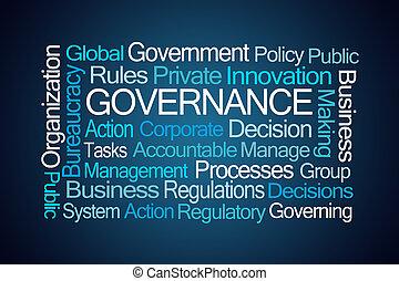 mot, gouvernement, nuage