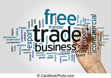 mot, gratuite, nuage, commercer