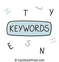 mot, illustration, keywords, vecteur, concept-