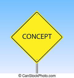 """mot, image, ciel, signe, arrière-plan., """"concept"""", route"""
