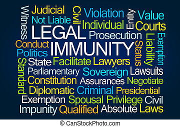 mot, immunity, nuage, légal